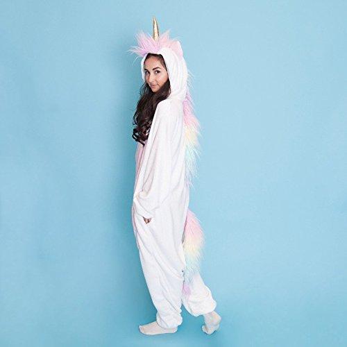 aea7259c72 Amazon.com  SMOKO Unicorn Magicorn Onesie Plush Single Piece Cosplay  Costume  Clothing
