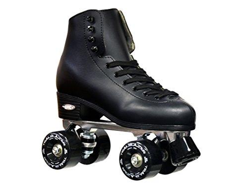 Epic Skates 2016 Epic Classic Quad Roller Skates, Black, Size 9 - Black Roller Skates