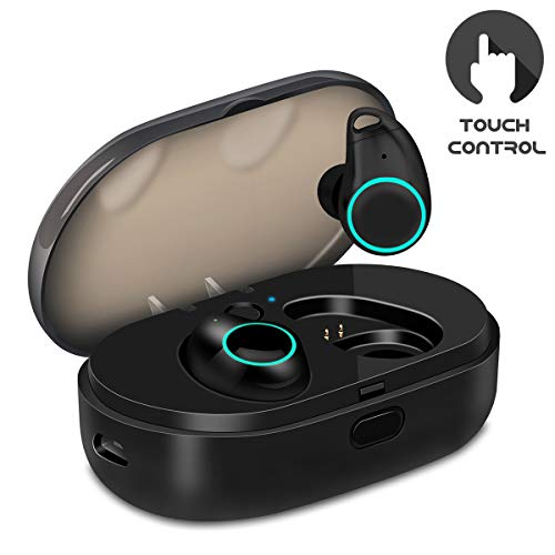 U-ROK Bluetooth Wireless Earbuds with 800mAh Charging Box, Touch Control  Sports Earphones in-Ear IPX5 Waterproof HD Stereo Sweatproof Headphones  with