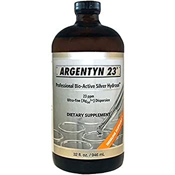 Image of Argentyn 23 PPM Colloidal Silver Hydrosol (32 oz Value Bottle) Health and Household