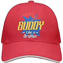 jrw5dfg498p Cap There's No Buddy Like A Brother Unisex Cap Cute Stylish Casual Simple Funny Personality Fashion Travel Essential