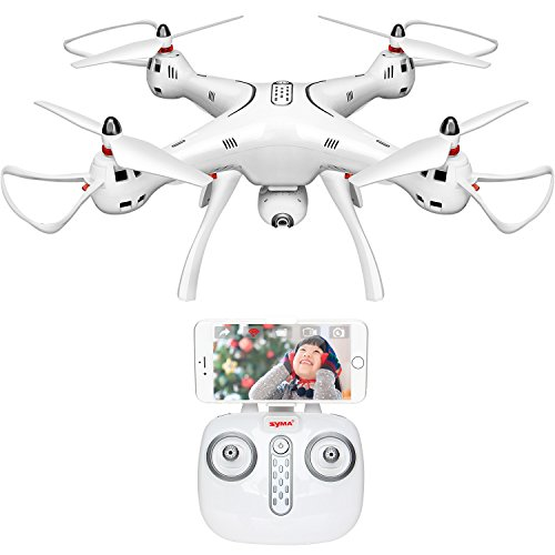 DoDoeleph Syma GPS Drone X8Pro One Key Return Home Quadcopter UFO Upgraded with Adjustable Wide-Angle 720P HD WIFI Camera- Follow Me
