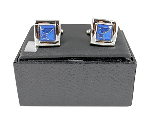 NHL St. Louis Blues Square Cuff LinksSquare Cuff Links, Team Color, 4