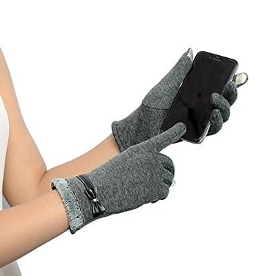 Winhurn Winter Warm Stylish Women Screen Touch Wrist Gloves Mittens