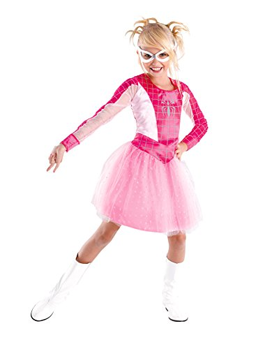 Kids- (Spidergirl Pink Classic Child Costumes)