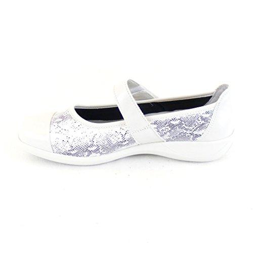 Stuppy Chaussures Dames Chaussures Mary Jane Fermoir Véritable Lumière Stretch En Cuir Gris 15640