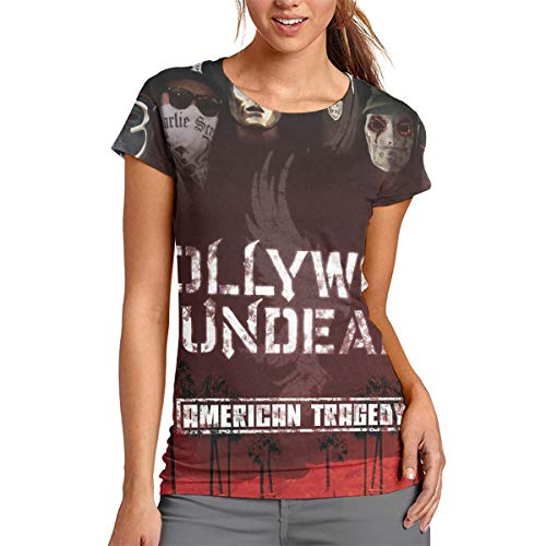 StephanDHampton Hollywood Undead 3D Printed Comfortable Womans Round Neck Short Sleeve Tees XXL ()