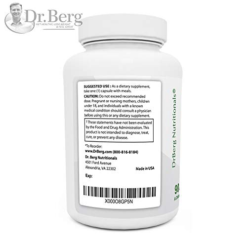 Dr. Berg's Gallbladder Formula Contains Purified Bile Salts, 90 Capsules, Enzymes to Reduce Bloating, Indigestion & Abdominal Swelling - Better Digestion, Improved Absorption of Nutrients (3 Pack) by Dr. Berg Nutritional (Image #3)
