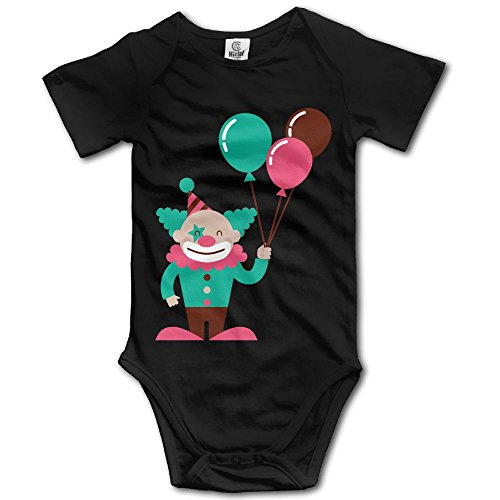 Circus Outfits For Babies (Constellation Baby Climbing Clothes, Joker Newborn Baby Bodysuit Black)