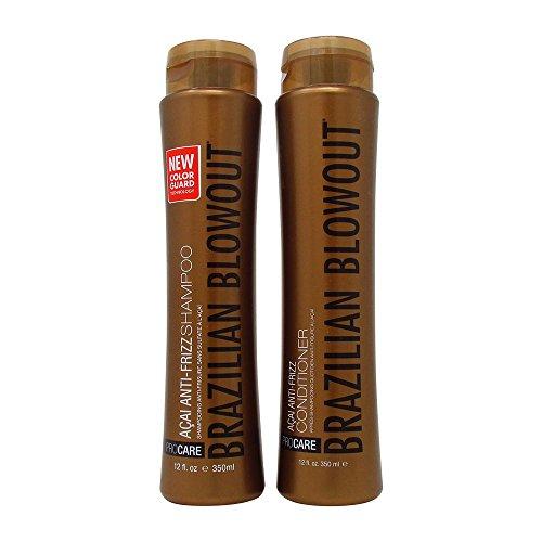 Brazilian Blowout Acai Anti-Frizz Shampoo & Conditioner 12oz (Anti Frizz Dry Hair Shampoo)