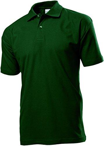 Stedman ST3000Herren Baumwolle Polo Shirt Flasche Grün 3X L