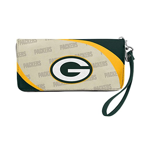 (NFL Green Bay Packers Curve Zip Organizer Wallet)
