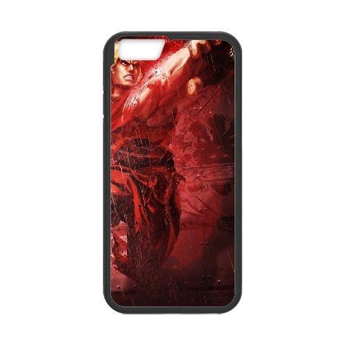 Street Fighter X Tekken 11 coque iPhone 6 4.7 Inch cellulaire cas coque de téléphone cas téléphone cellulaire noir couvercle EEECBCAAN03396