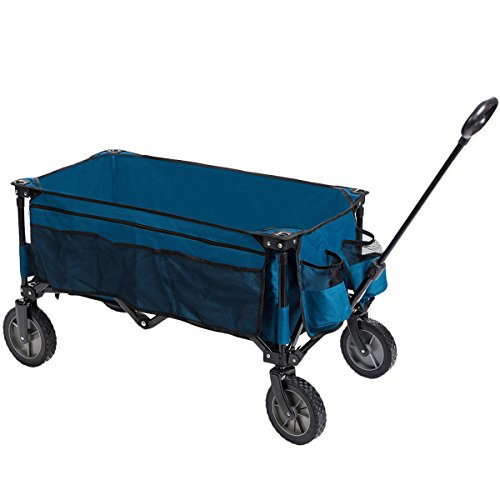 Attirant Timber Ridge Folding Camping Wagon, Garden Cart, Collapsible, Blue By  Timber Ridge
