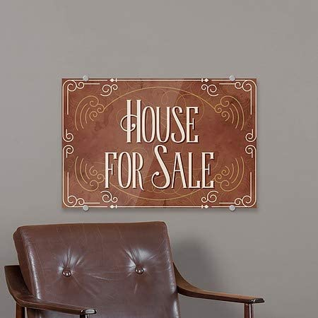 CGSignLab 5-Pack 27x18 House for Sale Victorian Card Premium Brushed Aluminum Sign