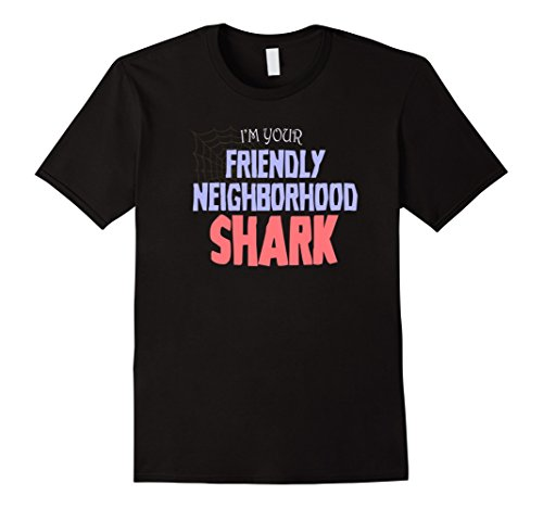 Funny Costumes Family Friendly (Mens Your Friendly Neighborhood Shark Costume Halloween Shirt Large)