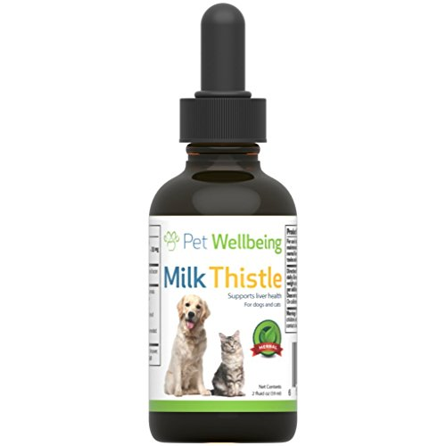 Pet Wellbeing - Milk Thistle For Dogs - Natural Glycerin Based Milk Thistle For Dogs - 2 Ounce (59 Milliliter) - Pet Milk