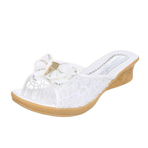 Kinder Schuhe, C-3, SANDALEN PANTOLETTEN Weiß