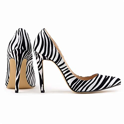 Top Shishang Women's Pointed Toe Platform Dress Court Shoes Sexy High Heel Party Club bar Wedding, Zebra, 37