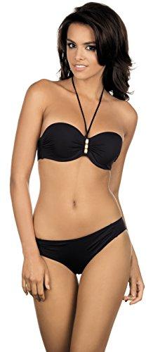 Lorin Damen Bügel Bikini Set L2045/6 (Schwarz (Muster-v1), Cup 80 B / Unterteil 40)