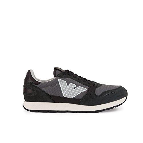 Sneakers Sneakers Pelle Black Sneakers Uomo GIORGIOARMANI GIORGIOARMANI Black Pelle GIORGIOARMANI Uomo Uomo q7Twx6EE