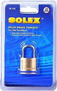 Solex Solid Brass Padlock SL 110 25mm