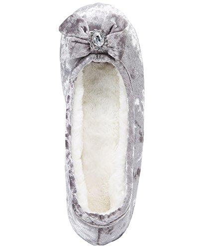 Embellished Velvet Small Ballerina Concepts 5 6 International INC Silver Slippers tqExBHgcZw