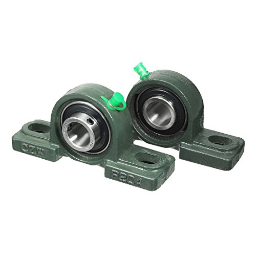 20 Mm Mounted Bearing (uxcell 2pcs Self-Alignment Pillow Block Bearing UCP204 20mm Mounted Bear)