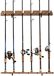 Old Cedar Outfitters 3-in-1 Hanging Fishing Rod Storage Rack, Hang on Walls Horizontally or Vertically, or on