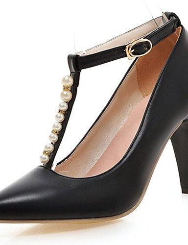GGX/Damen Schuhe Stiletto Heel Spitz Zulaufender Zehenbereich Perlen Ankle Strap Pumpe mehr Farbe erhältlich white-us5 / eu35 / uk3 / cn34