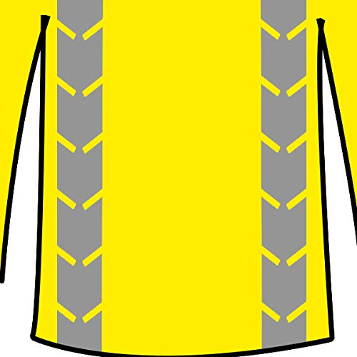 KwikSafety (Charlotte, NC) RENAISSANCE MAN (with POCKET) Class 3 ANSI High Visibility Safety Shirt Fishbone Reflective Tape Construction Security Hi Vis Clothing Men Long Sleeve Yellow Black XL by KwikSafety (Image #1)