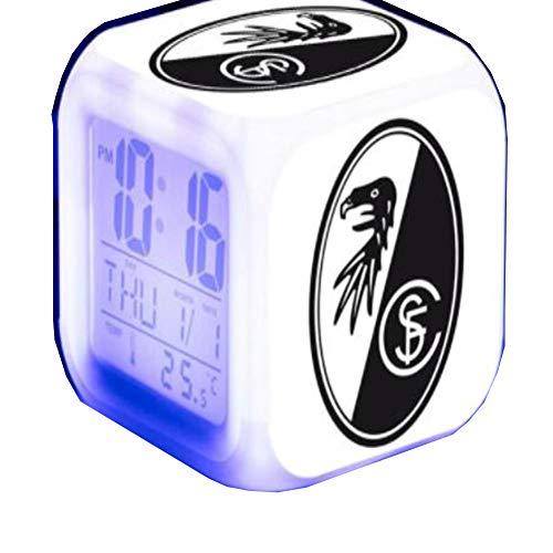 Amazon.com: LED Digital Alarm Clocks Night Light Reloj 7 Colors Flash LED Soccer Luminous Watch Home Decor: Clothing