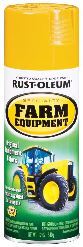 Rust-Oleum 7449830 Specialty Farm Equipment Spray Paint, 12 oz, Caterpillar Yellow - Equipment Paint