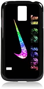 Just Do It - Glitter - Samsung galaxy s5 I9600 -Samsung Galaxy S5 I9600 - Hard black plastic case with black soft rubber lining (double layer).