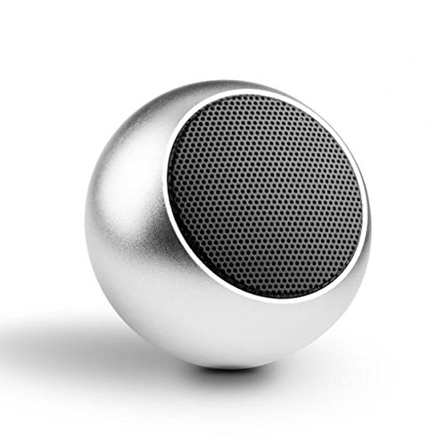 Mini Wireless Speaker Audio Hands-free Microphone with Remote Shutter Lightweight Silver for MetroPCS LG Optimus F6 - MetroPCS Microsoft Lumia 640 - MetroPCS Nokia Lumia 635 (Nokia Oem New Battery 2)