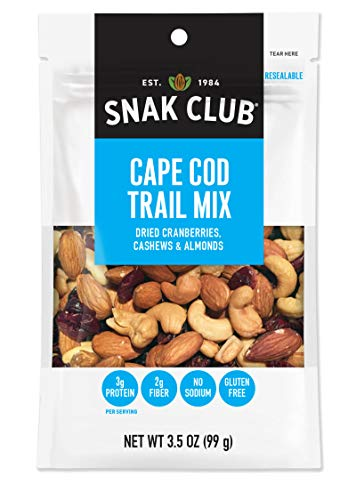 Snak Club All Natural Cape Cod Trail Mix, Non-GMO, 3.5-Ounces, 6-Pack