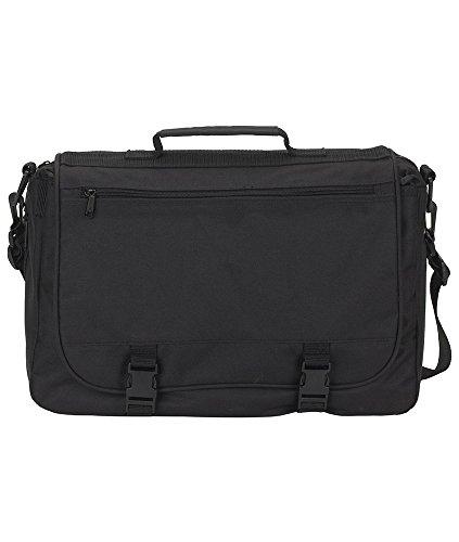 Gemline Executive Saddlebag Messenger Bag M2400 Black