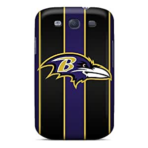 Durable Hard Phone Case For Samsung Galaxy S3 (zbN4725cOSd) Allow Personal Design Lifelike Baltimore Ravens Skin