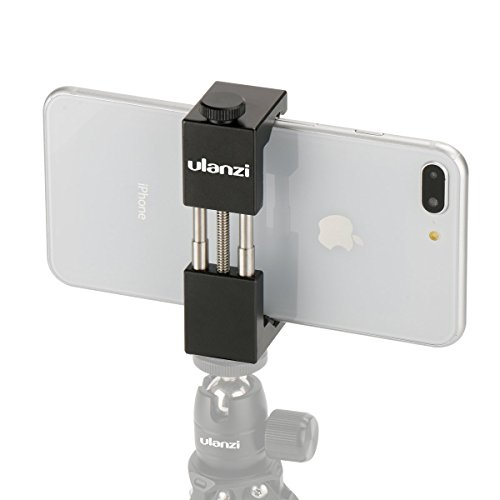 Metal Smartphone Tripod Mount - Ulanzi Aluminum Metal Universal Smart Phone Tripod Holder Mount Adapter for Apple iPhone 7 & iPhone 7 Plus Sumsang Android Smartphones - Black