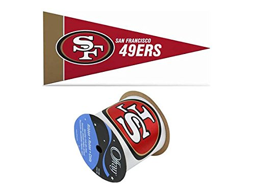 San Francisco 49ers Mini Pennant & Ribbon (San Francisco 49ers Miniature)