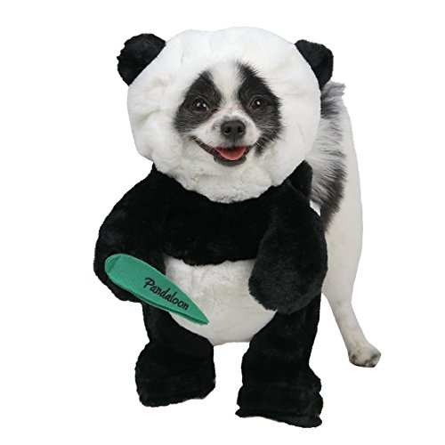 Santa Dog Tank - Pandaloon Panda Puppy Dog Pet Costume (Size 1 (13-14.5 in total height), Panda)