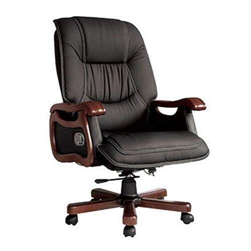 WXF High Back Office Chair, PU Leather Padded Swivel Rolling Executive Managers Directors Adjustable Ergonomic Computer Desk Seat Armchair ()