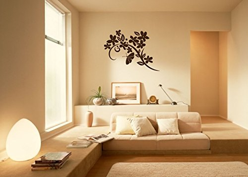 Wandtattooladen Wandtattoo - Ranke Ranke Ranke mit Schmetterling Größe 100x73cm Farbe  weiß B013R78S4M | Authentisch  bd8bed
