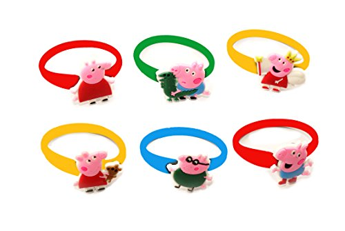 [AVIRGO 6 pcs Colorful Releasable Ponytail Holder Elastic Rubber Stretchable No-slip Hair Tie Set #] (Cute Scarecrow Costumes)