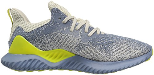 adidas Men's Alphabounce Beyond Running Shoe, Steel/raw Grey/Shock Yellow, 7 M US by adidas (Image #6)