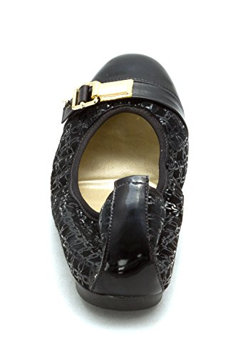 Womens French Ballet Cap Toe Sole PATENT Black Flats Meter 7vxqOpv5