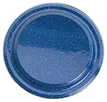 GSI Outdoors 31526 Blue Stainless Steel Rim Enamelware Plate
