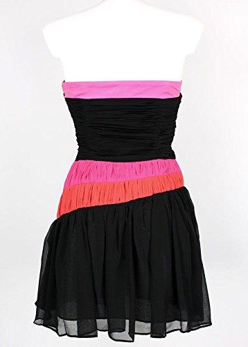 Lipsy - Vestido - Top corto - Rayas - Sin mangas - para mujer Schwarz/Rot/Orange/Pink