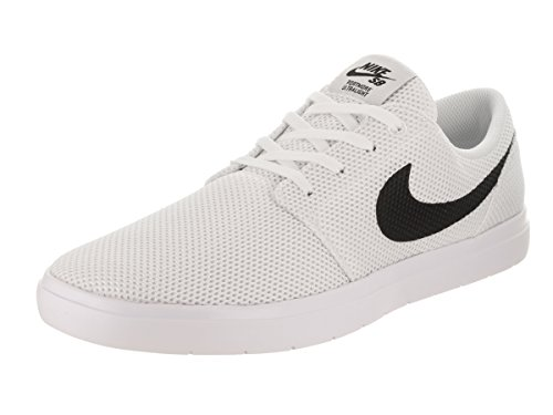 new style 37b7f 45de8 Nike Men s SB Portmore II Ultralight White Black Track Red Skate Shoe 8.5  Men US