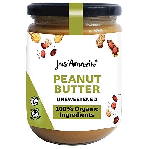 JUS' AMAZIN Organic Peanut Butter All Natural - UNSWEETENED | 100% Organic Ingredients | Vegan (500 g) (B07X9T3BJ3) Amazon Price History, Amazon Price Tracker